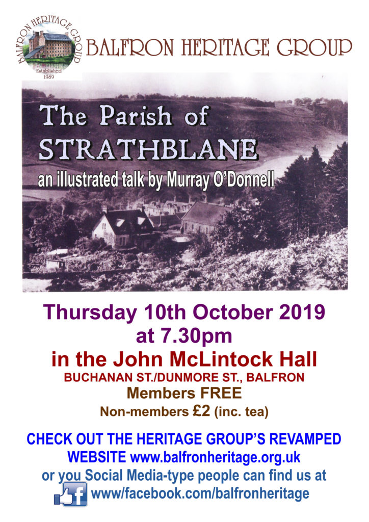 The Parish of Strathblane - an illustrated talk by Murray O'Donnell